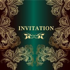 Free Luxury Vector Invitation Card In Royal Style Stock Photos - 35610203