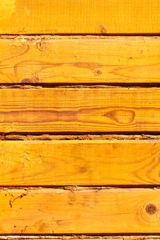 Free Wooden Yellow Wall Stock Photography - 35614242