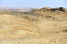 Ramon Crater In Negev Desert. Royalty Free Stock Photography