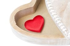 Free Red Heart In A Wooden Box, Isolated Royalty Free Stock Image - 35619406