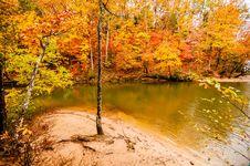 Autumn Season At A Lake Royalty Free Stock Photo