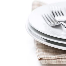 Free Tableware For Dinner, Selective Focus, Isolated Royalty Free Stock Images - 35619479