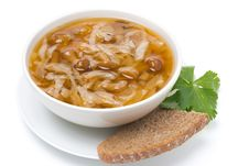 Free Traditional Russian Cabbage Soup &x28;shchi&x29; With Mushroom, Isolated Stock Photos - 35619523