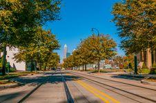 Charlotte City Skyline Autumn Season Stock Image