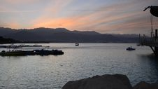 Free View On The Gulf Of Eilat At Dawn Royalty Free Stock Photo - 35619965