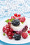 Free Dessert - A Piece Of Cake With Fresh Berries Stock Photography - 35619182