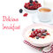 Free Semolina Porridge With Fresh Berries, Nuts And Cup Of Coffee Royalty Free Stock Photography - 35619437