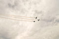 Free Action In The Sky During An Airshow Stock Images - 35620454