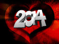 Free 2014 White Numbers On A Red Background Royalty Free Stock Photos - 35622628