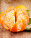 Free Tangerine With Segments Royalty Free Stock Image - 35625086