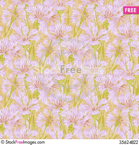 Free Vector Floral Seamless Pattern Stock Photography - 35624822