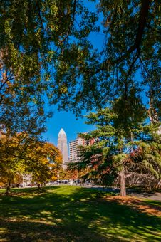 Free Charlotte City Skyline Autumn Season Royalty Free Stock Photo - 35620275