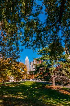 Charlotte City Skyline Autumn Season Royalty Free Stock Photo