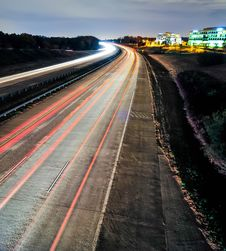 Evening Highway And Sky Traffic Royalty Free Stock Photography
