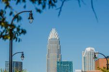 Charlotte City Skyline Autumn Season Stock Photos