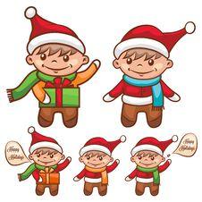 Free Cute Santa Boy Royalty Free Stock Photo - 35621285