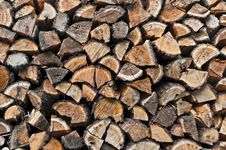 Free Stacked Chopped Wood Royalty Free Stock Photography - 35621637