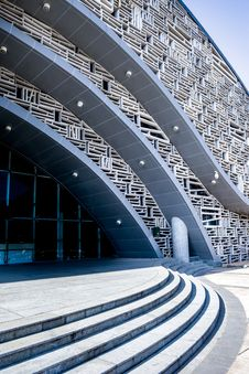 Free Modern Building Art Of Lines Stock Photography - 35622652