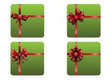 Free Christmas Ribbons Set Stock Photo - 35623550