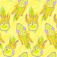 Free Vector Seamless Pattern With Bird Stock Photos - 35623743