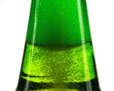 Free Green Bottle Of Beer And Gas Bubbles Stock Image - 35624531