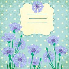 Free Vector Background With Blue Cornflowers Royalty Free Stock Photo - 35624885