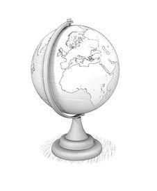 Free Desktop Globe Royalty Free Stock Photos - 35626168