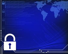 Free Secure Information Technology Background Royalty Free Stock Photo - 35628835