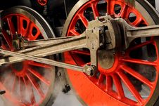 Free Detail Of The Train Wheels Stock Photo - 35629240