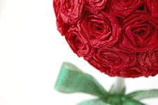 Red Paper Rose Topiary Royalty Free Stock Image