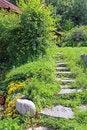Free Stone Staircase Leading To The House Stock Photos - 35633723