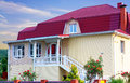 Free House With A Red Roof Stock Photography - 35639822