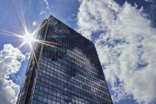 Skyscraper In The Sun Stock Image