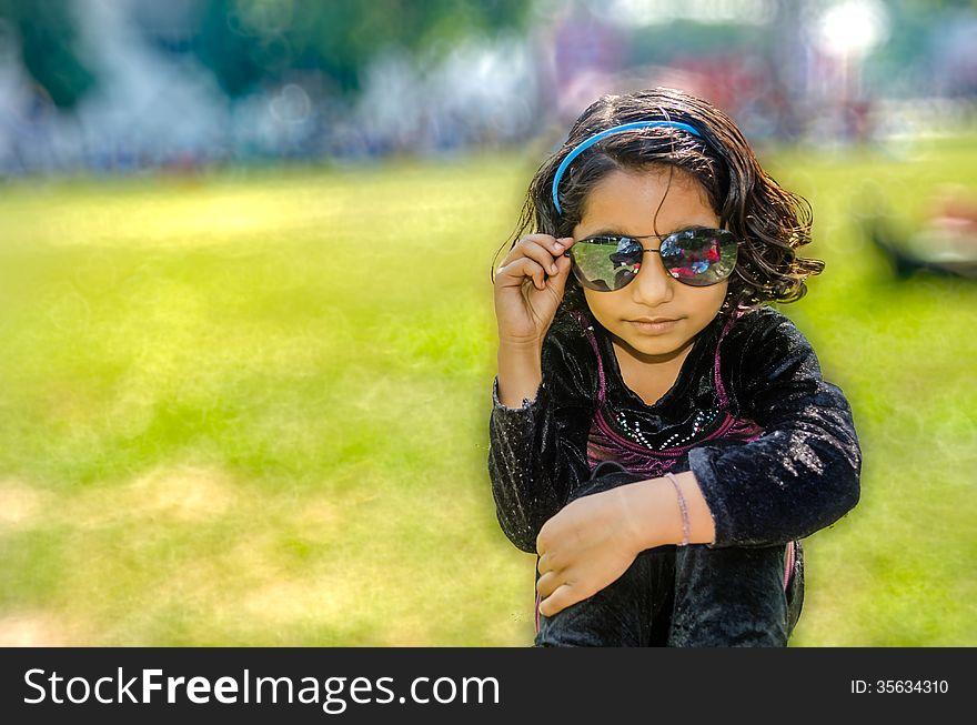 Portrait of happy girl child