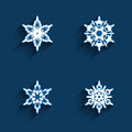Free Snowflake Icons Set Stock Images - 35642374