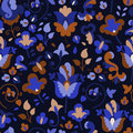 Free Flower Pattern On A Dark Background Royalty Free Stock Photos - 35645948