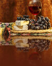 Free Wine And Brie Cheese Royalty Free Stock Photography - 35648067