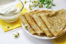Russian Pancakes Royalty Free Stock Photo