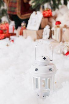 Free Christmas, New Year, Red Christmas Balls Stock Image - 35641471