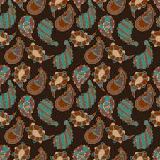 Free Seamless Background With Paisley Royalty Free Stock Image - 35645946