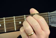 Chord On The Guitar Stock Image