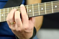 Free Chord On The Guitar Stock Photos - 35646723