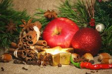Free Christmas Spices Background Royalty Free Stock Image - 35646766