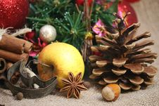 Free Christmas Spices Background Royalty Free Stock Image - 35646806