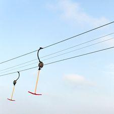 Free Ski Trace. Stock Photos - 35647763