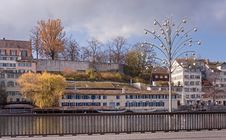 Free Zurich, Limmat Quay With Christmas Lamp Royalty Free Stock Photography - 35649737