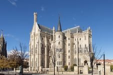 Free Episcopal Palace Of Astorga, Leon, Castilla, Spain. Stock Photo - 35650320