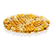 Free Pills With Cod-liver Oil Stock Photography - 35652502