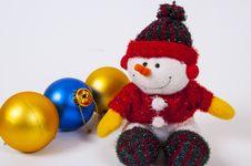 Free Christmas Decoration Snowman Stock Photos - 35654883