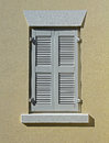 Free White Window Shutters On A Cream Wall Royalty Free Stock Photos - 35669138
